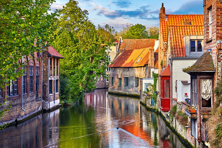 Medieval houses along the canal