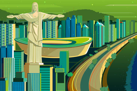 Christ the Redeemer statue illustration