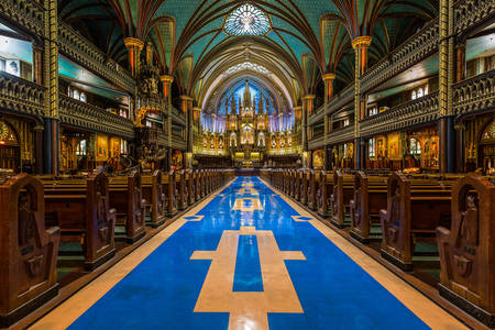 Interior of the Cathedral of Notre Dame de Montreal