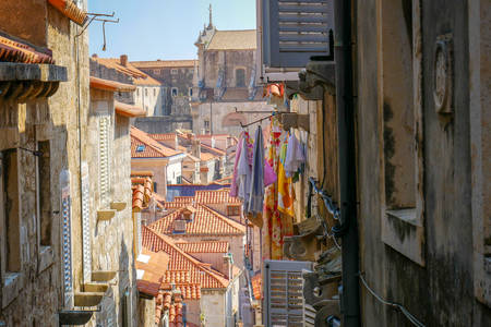 Narrow streets of Dubrovnik