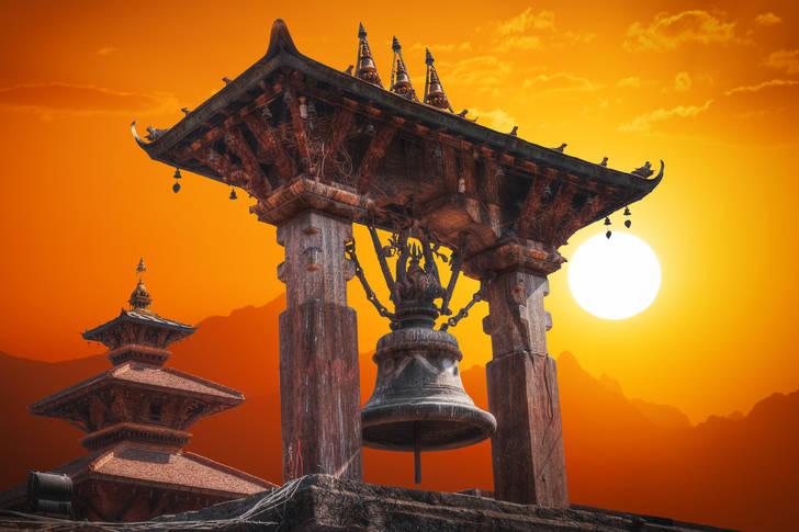 Temples at Durbar Square in Bhaktapur