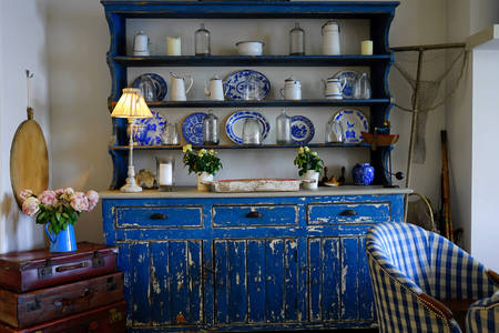 Antique buffet in a country house