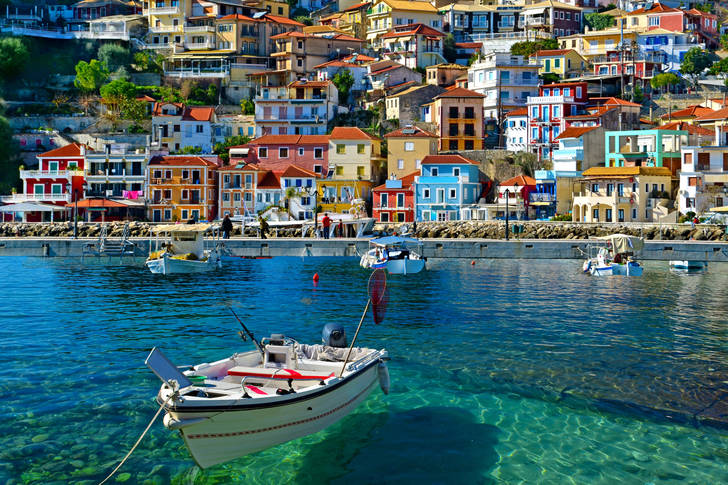 Parga town view from the sea