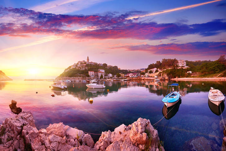Dawn on the island of Krk