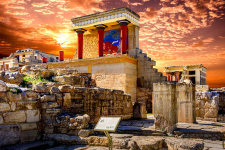 Ruins of the palace of Knossos