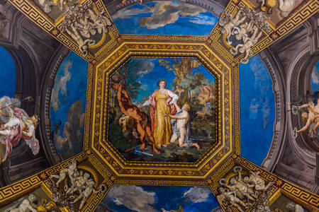 Fresco on the ceiling in the Vatican Museum
