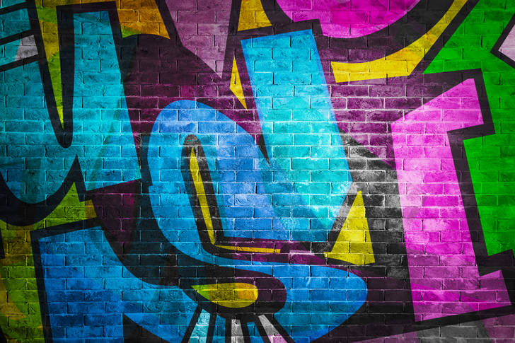 Colored graffiti